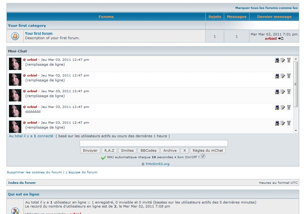 phpbb mchat fully working just 1 issue please look phpbb